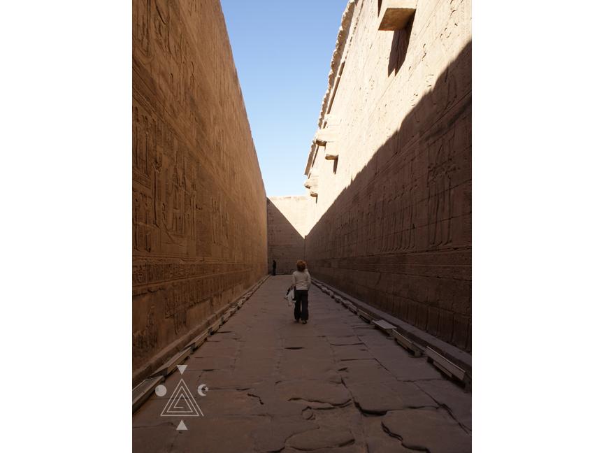 An* en el Templo de Edfu. Egipto