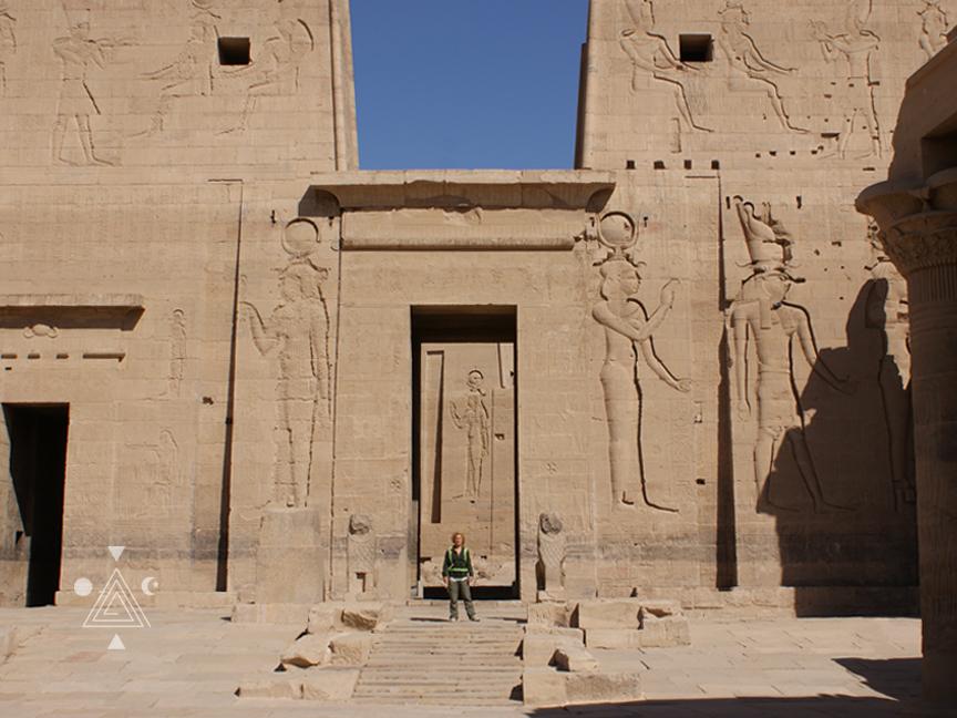 An* en el Templo de Philae. Egipto