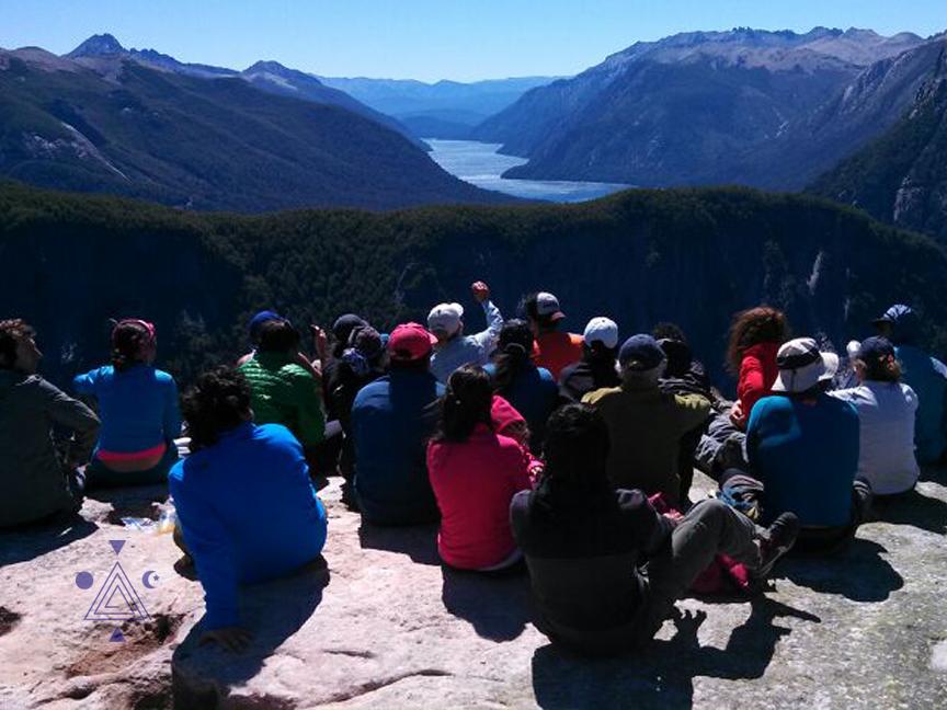 Mirada del doctor. Final Brazo Tristeza. Lago Nahuel Huapi